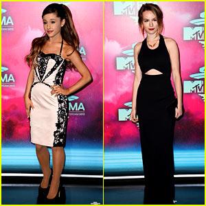 Ariana Grande & Bridgit Mendler - MTV EMA 2013 Red Carpet