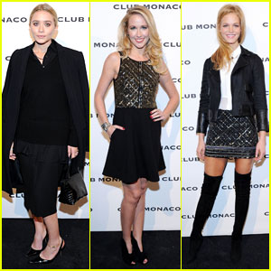 Ashley Olsen & Erin Heatherton: Club Monaco's Flagship Opening