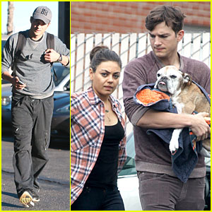 Ashton Kutcher & Mila Kunis: Animal Hospital with Pet Pooch