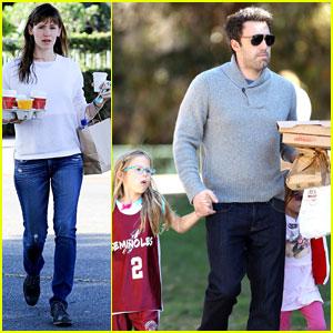 Ben Affleck & Jennifer Garner: Busy Sunday with the Girls!