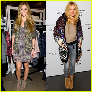 Brooklyn Decker & Sienna Miller Support Isabel Marant for H&M!