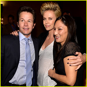 Charlize Theron & Mark Wahlberg Reunite at Premiere After Party!