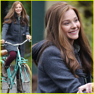 Chloe Moretz Rides Bike for 'If I Stay,' Reaches Twitter Milestone!