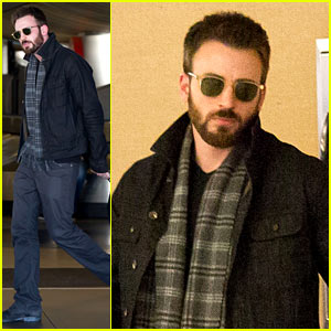 Chris Evans Steps Out After Split from Minka Kelly