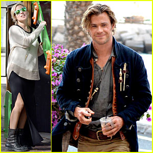 Chris Hemsworth Shoots 'In The Heart Of The Sea', Elsa Pataky Relaxes in La Gomera