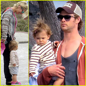 Chris Hemsworth & Pregnant Elsa Pataky Enjoy Day Off with India