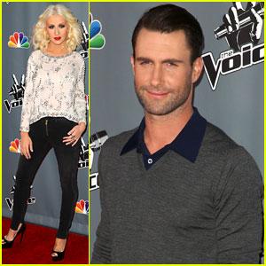 Christina Aguilera & Adam Levine: 'The Voice' Top 12 Event