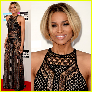 Ciara Rocks Short Haircut on AMAs 2013 Red Carpet