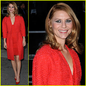 Claire Danes Debuts New Hair Color for 'Letterman' Appearance