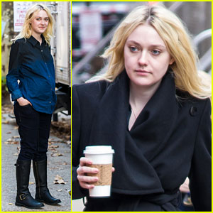 Dakota Fanning: Fake Baby Bump on 'Franny' Film Set