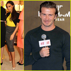 David Beckham Attends H&M Event in Shanghai, Victoria Launches Quincy Accessories!