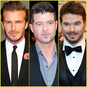 David Beckham & Robin Thicke: GQ Men of the Year Awards