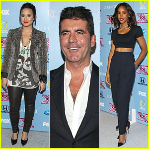 Demi Lovato & Kelly Rowland: 'X Factor' Finalists Party!