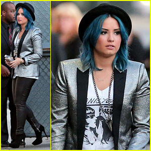 Demi Lovato Stops by 'Jimmy Kimmel Live!'