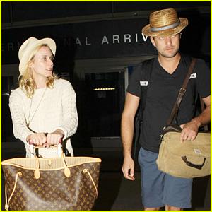 Diane Kruger & Joshua Jackson Arrive Home from Cabo Trip