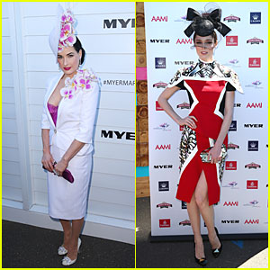 Dita Von Teese & Coco Rocha: Melbourne Cup Day!