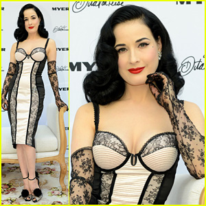Dita Von Teese Debuts New Lingerie Collection In Melbourne!