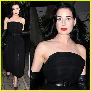 Dita Von Teese Goes Glam at Chateau Marmont