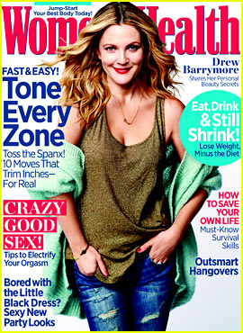 Drew Barrymore Covers 'Women's Health' December 2013