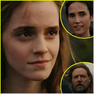 Emma Watson & Russell Crowe: 'Noah' Trailer - Watch Now!