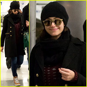 Emmy Rossum: Back in LA After 'Shameless' Stunt Work!
