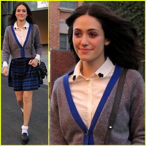 Emmy Rossum: It Looks Like Hermoine Granger Dressed Me!