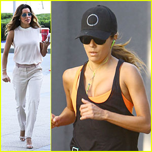 Eva Longoria: Classy Chic Transformation After Workout!