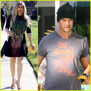 Fergie Attends Sister's Baby Shower, Josh Duhamel Works Out
