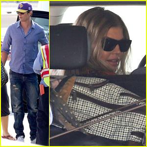 Fergie & Josh Duhamel: Private Flight After LACMA Art & Film Gala
