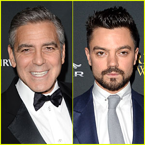 George Clooney & Dominic Cooper - BAFTA Britannia Awards 2013 Red Carpet