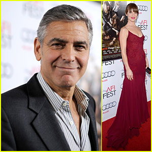George Clooney & Juliette Lewis: 'August' Hollywood Premiere