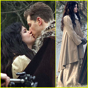 Ginnifer Goodwin Debuts Baby Bump, Kisses Josh Dallas on Set!