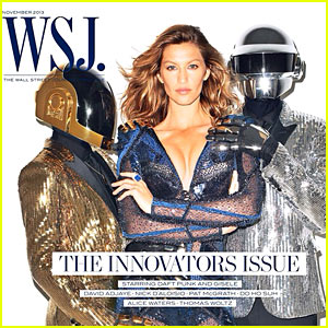 Gisele Bundchen Covers 'WSJ' with Daft Punk!