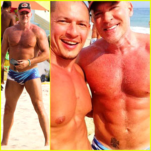 GMA's Sam Champion: Shirtless Speedo Sexy for Honeymoon!