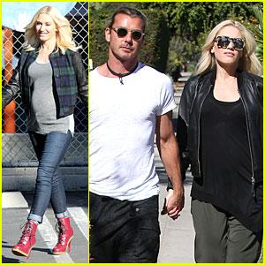 Gwen Stefani: Baby Bumpin' Errands with Gavin Rossdale!