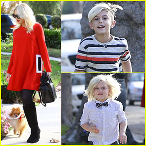 Gwen Stefani: Thanksgiving at Parents' House with Gavin Rossdale & Sons Kingston and Zuma