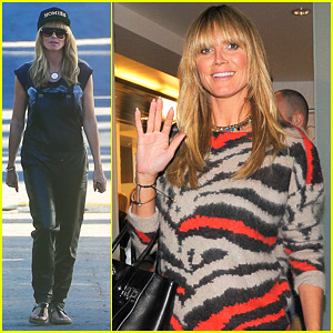 Heidi Klum Films 'Germany's Next Top Model' with Mother!