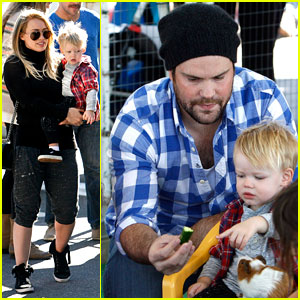 Hilary Duff & Mike Comrie: Petting Zoo with Luca!