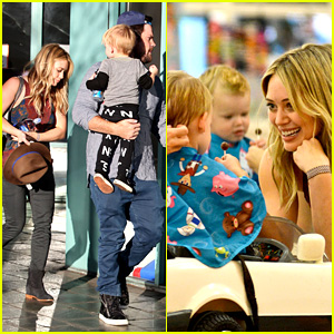 Hilary Duff & Mike Comrie Take Luca to Get His Hair Cut!