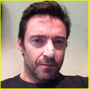 Hugh Jackman Treated for Skin Cancer on Nose