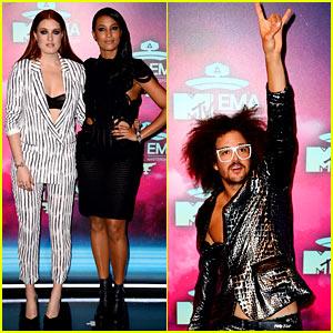 Icona Pop & Redfoo - MTV EMA 2013 Red Carpet