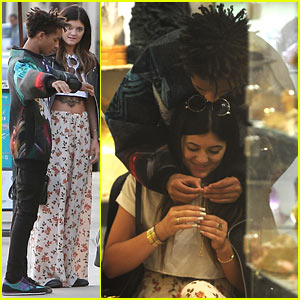 Jaden Smith & Kylie Jenner Share Cute Moment While Shopping