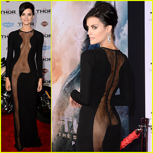 Jaimie Alexander Wears Racy Dress, No Underwear to 'Thor' Premiere