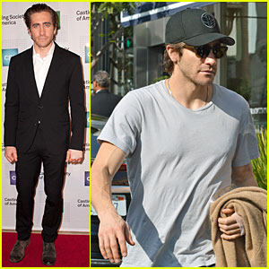 Jake Gyllenhaal: Bandaged Stud at Artios Awards 2013!