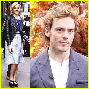 Jena Malone & Sam Claflin Promote 'Catching Fire' on 'GMA'!