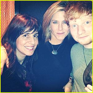 Jennifer Aniston: Thanksgiving Celebration with Ed Sheeran!