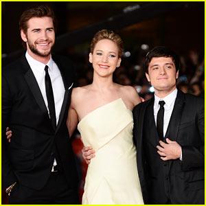 Jennifer Lawrence & Josh Hutcherson: 'Catching Fire' Rome Premiere!