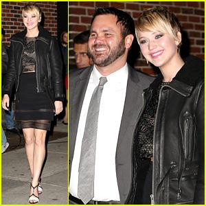 Jennifer Lawrence Visits 'Letterman' with Older Brother Ben!