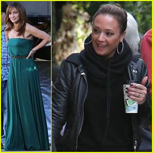 Jennifer Lopez's Pal Leah Remini Visits Star on 'Boy Next Door' Set!