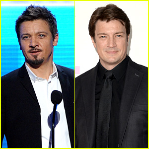 Jeremy Renner & Nathan Fillion - AMAs 2013